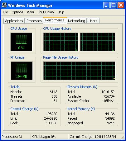 Win mini task manager